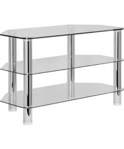 Hygena Matrix TV Unit - Clear Glass.
