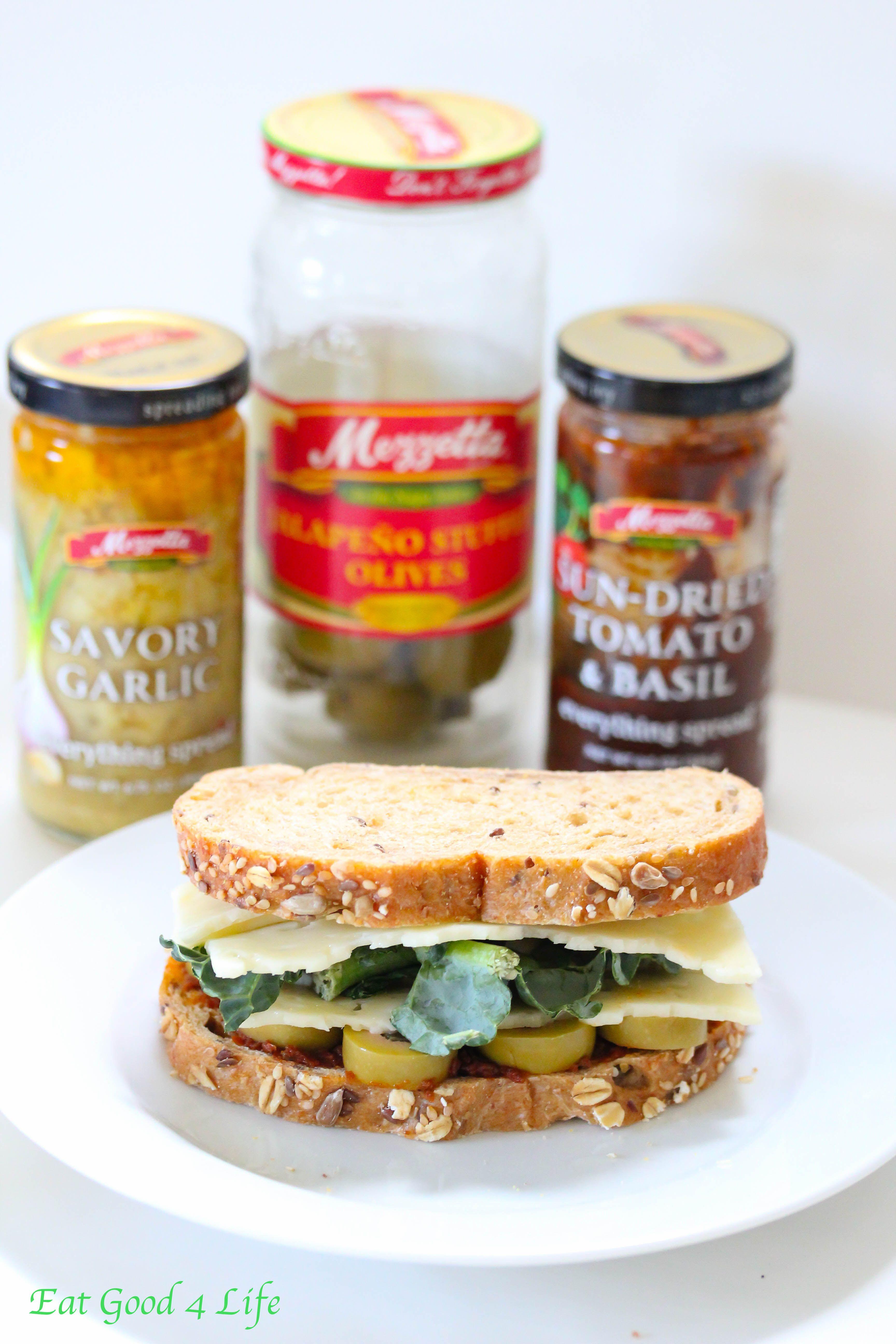 kale and sun dried tomato sandwich