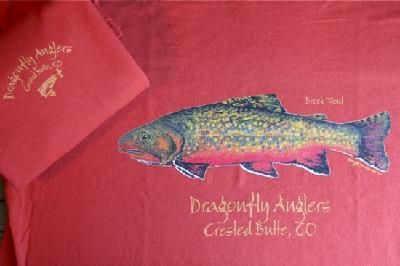 8cf14f7bd Brook Trout/Dragonfly Angler Logo t-shirt. An absolutely beautiful ...