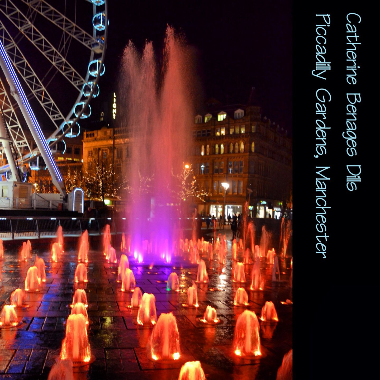 Waterlights fountain, Piccadilly Gardens, Manchester ...