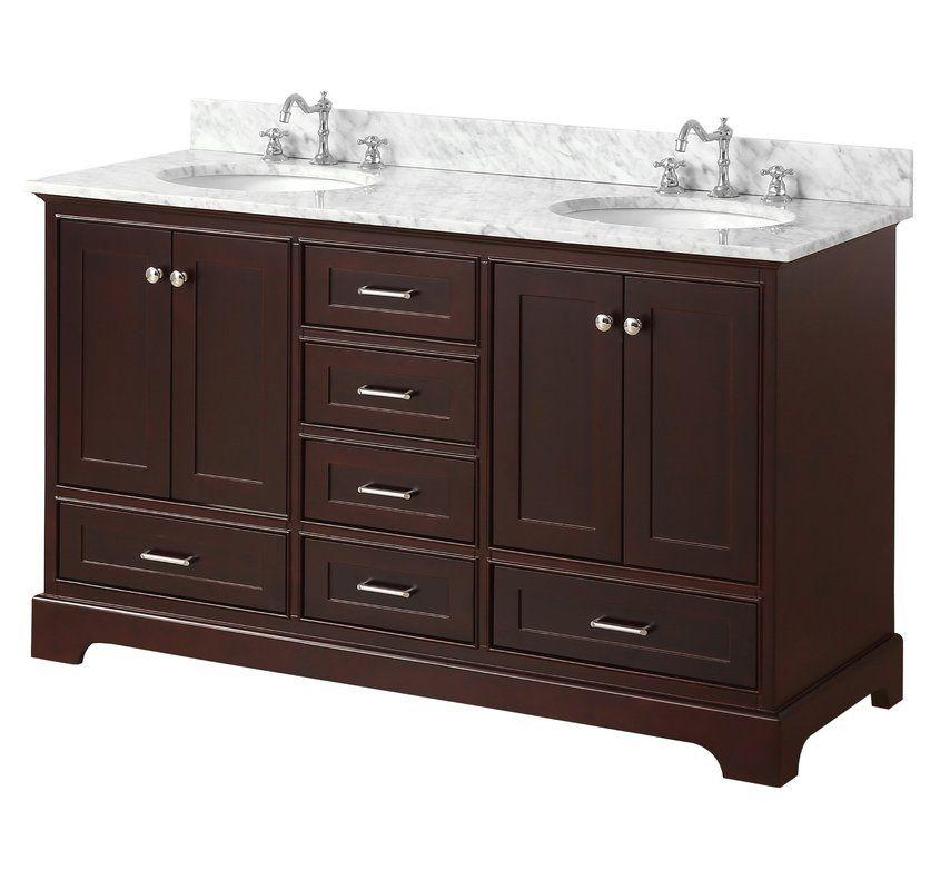 Kbc Harper 60 Quot Double Bathroom Vanity Set Amp Reviews