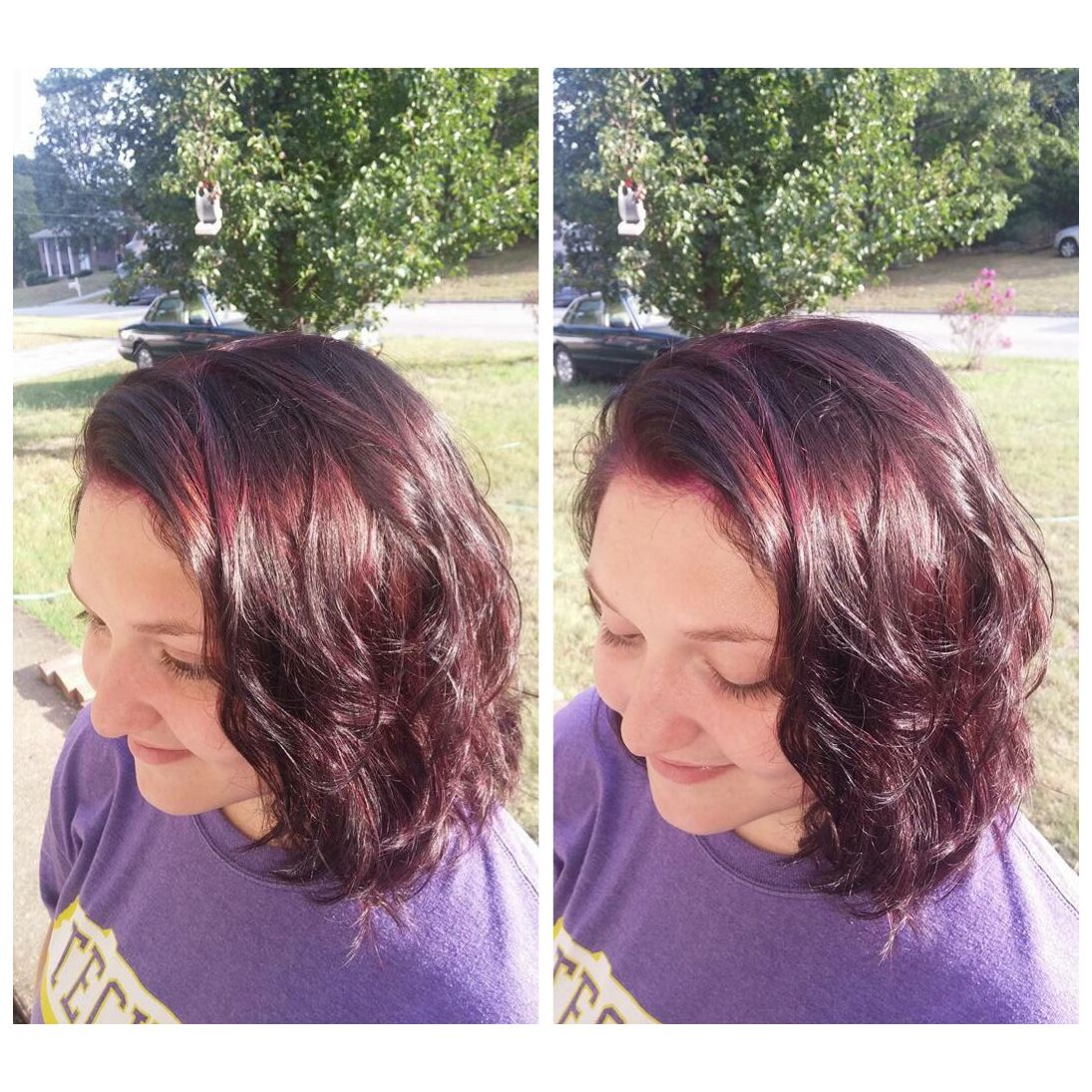 Red wine hair: violet with red undertones!