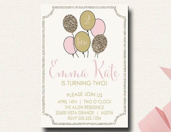 Love This Sweet Little Birthday Invite With A Collage Of Photos Of