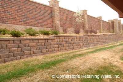 Structural Retaining Wall Built With Pavestone Adobe Blend Modular Block Retaining Wall Construction Retaining Wall How To Install Pavers
