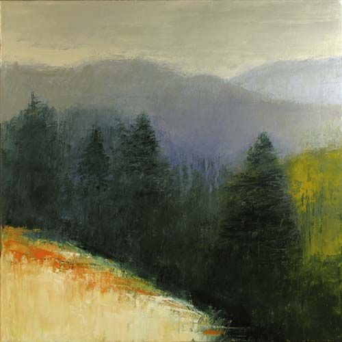 """Black Forest acrylic on canvas 18""""x18""""by IRMA CERESE"""