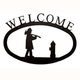 Wrought Iron Fireman Welcome Sign Welcome Home Signs Welcome Sign Wrought Iron Sign
