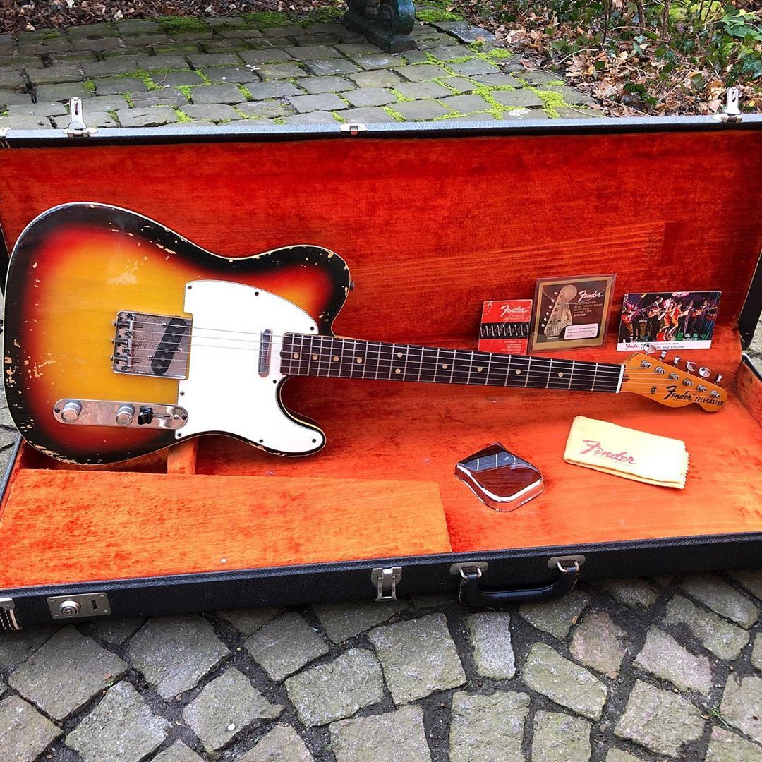 """David Amselem on Instagram: """"Happy New Year!! All original 1971 Fender telecaster custom with tags and case candies. Late binding version. Lot of mojo. #fender…"""" #fenderguitars"""