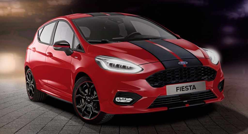2019 Ford Fiesta St Line Red And Black Editions Prove Stripes Go With Everything Ford Fiesta St Ford Fiesta Fiesta St