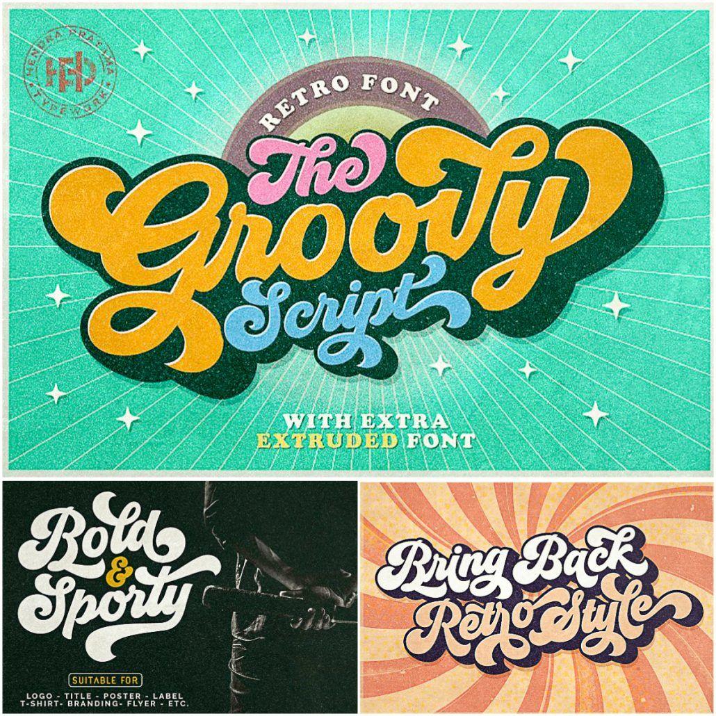 Groovy Font Script Free Download Groovy Font Free Fonts Retro Free Script Fonts