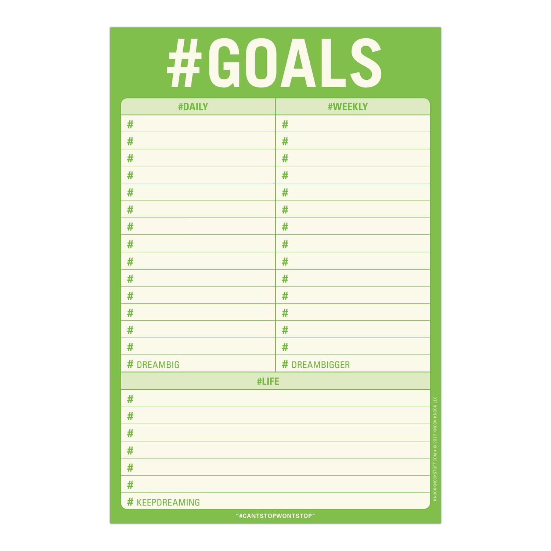 Goals Pad