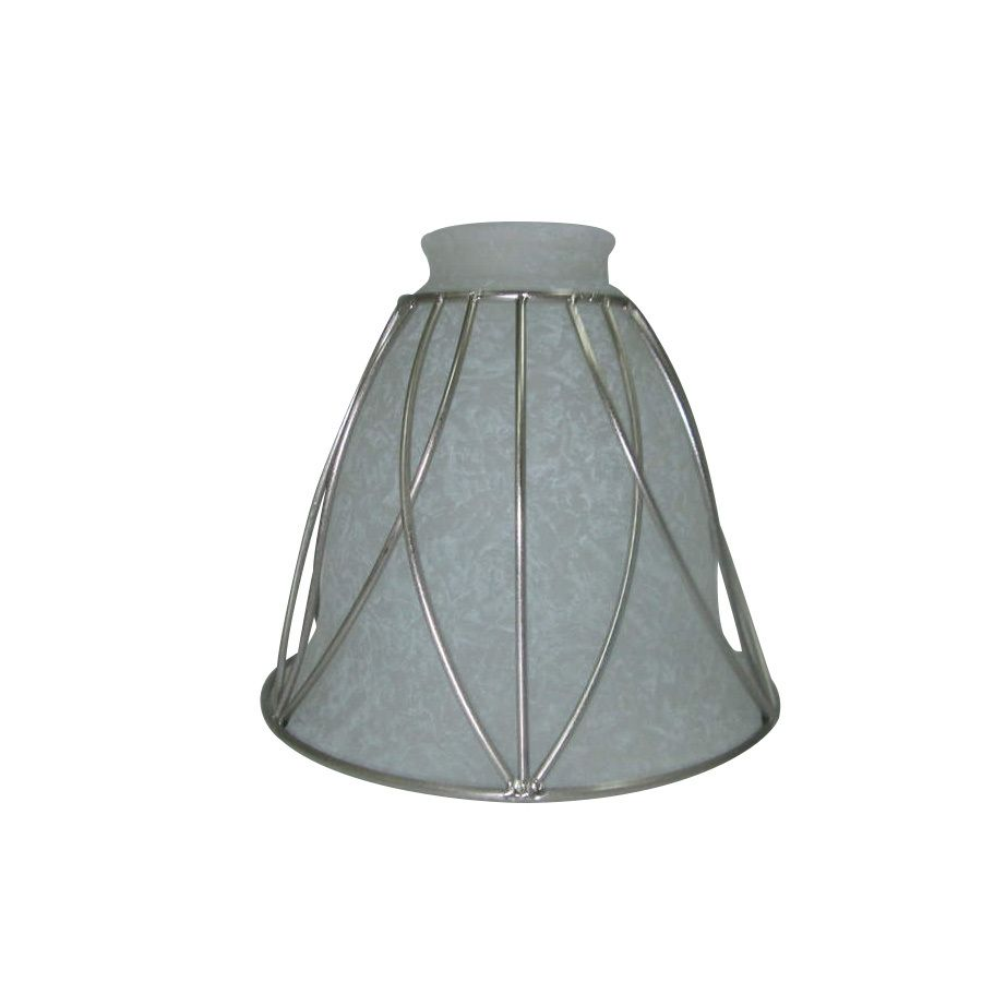 Portfolio 5 125 In H 6 W Brushed Nickel Rustic Bell Vanity Light Shade At Lowes