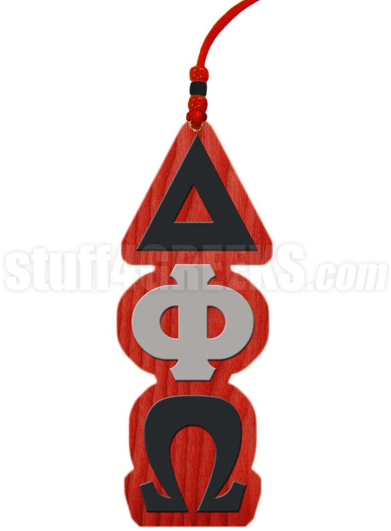 Red black and gray delta phi omega tiki necklace delta phi red black and gray delta phi omega tiki necklace biocorpaavc Gallery