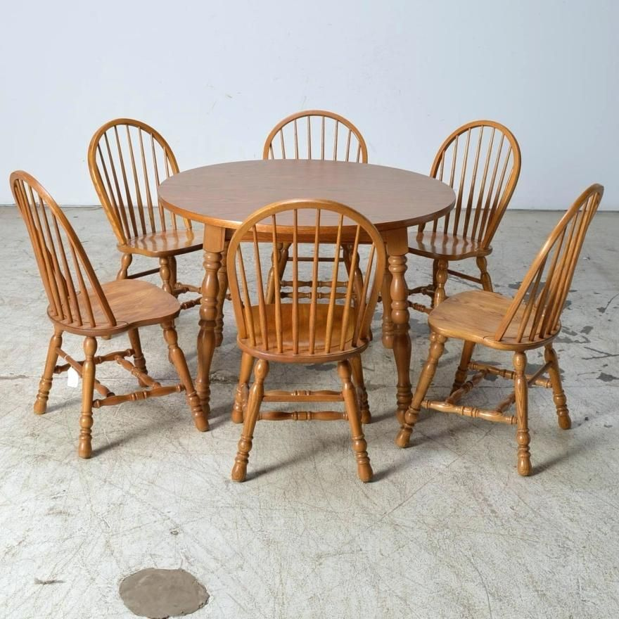 Cochrane Dining Room Furniture Table And Chairs Oak Six Style