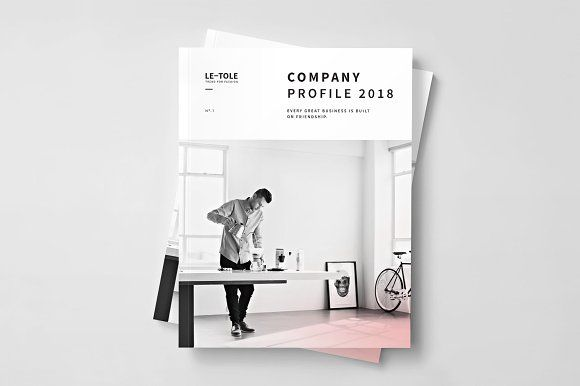 Fashion Company Profile by BOXKAYU on @creativemarket Brochure - it company profile template