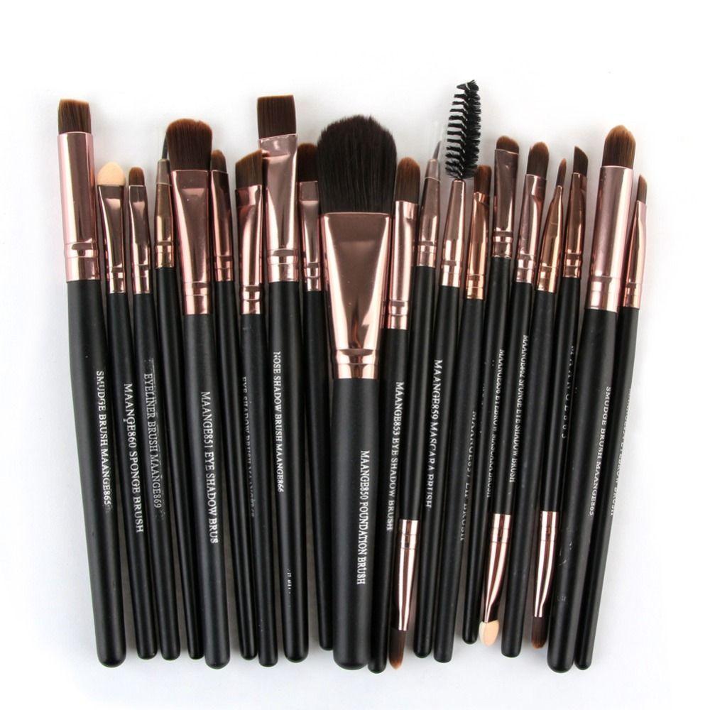 2017 Hot 20PCS Cosmetic Makeup Brushes Lip Makeup Brush Eyeshadow Brush pincel maquiagem Mar5