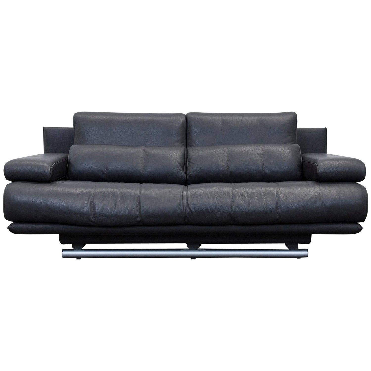 Benz Couch Rolf Benz 6500 Designer Sofa Black Three Seater Modern Variable