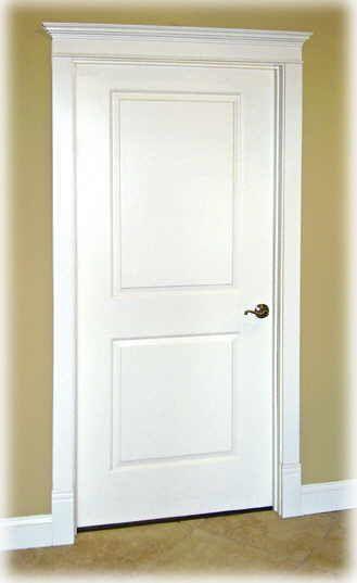Door Casing With White Original Wood