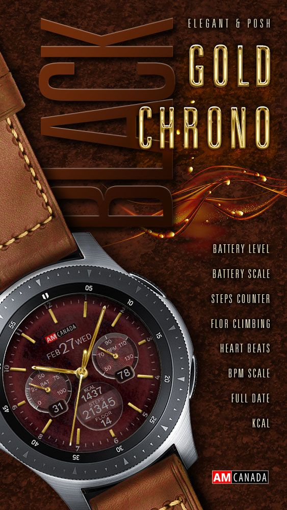 """""""AMC190227 Gold Chrono Black"""" is available now at Samsung"""