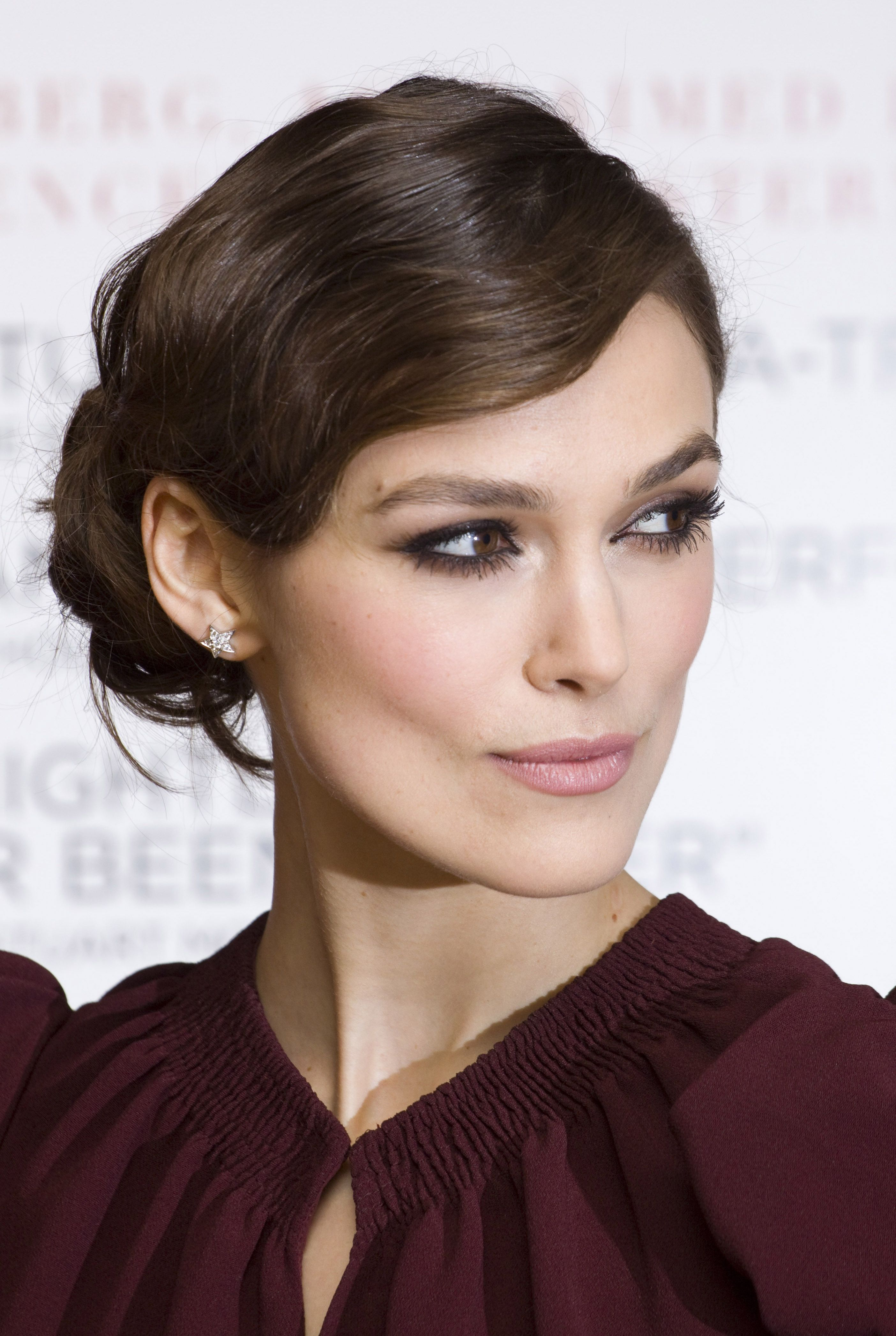brown hair: keira knightley | updo, style and keira knightley