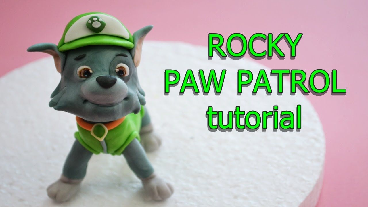 Kids Toys Action Figure: How To Make Rocky Paw Patrol Cake Topper Fondant