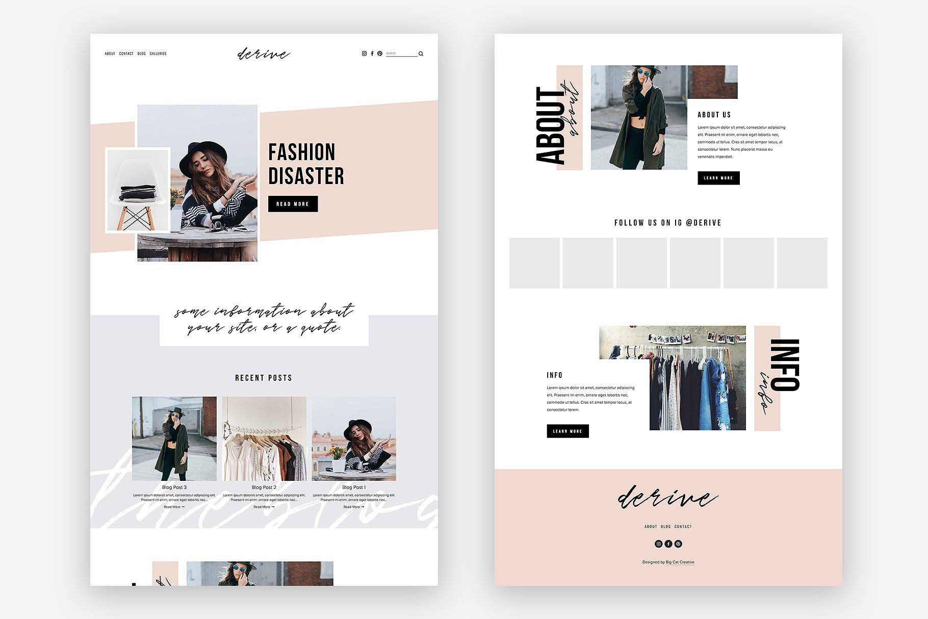 Squarespace Template Derive By Big Cat Creative On