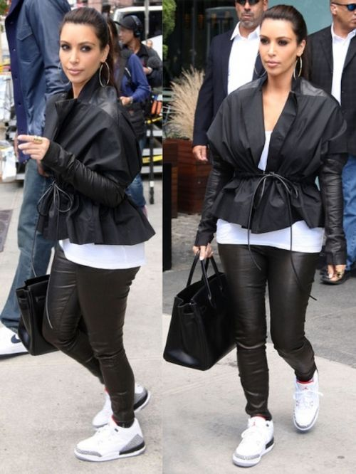 ebc420d18bf5 Kim-Kardashian-wearing-Air-Jordan-Retro-3-Sneakers