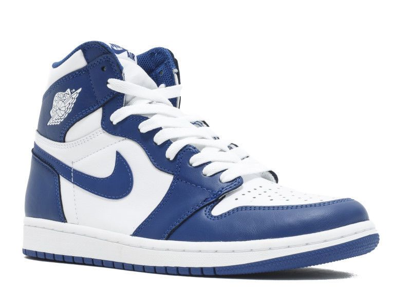 f6a73e07456ad3 Nike Air Jordan 1 Retro High OG White   Storm Blue 555088-127 mens sz 14  shoes  Nike  BasketballShoes