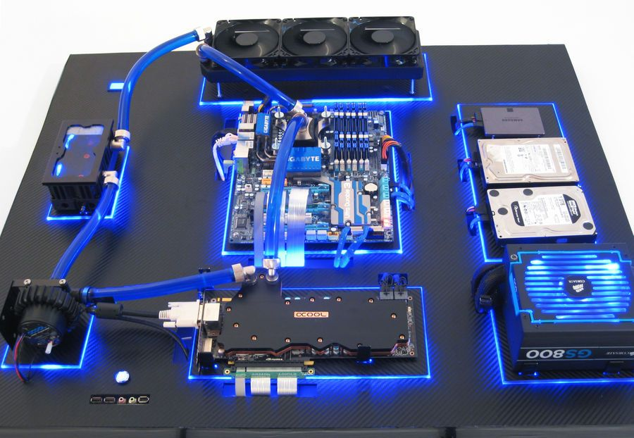 Gallery Of An Awesome Wall Mounted Custom Pc With Beautiful Liquid