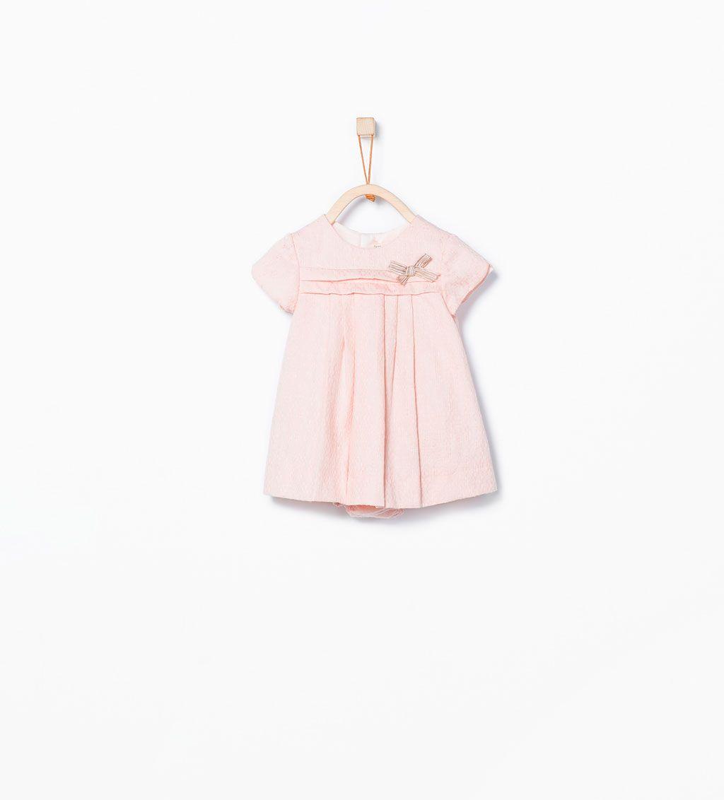 ZARA - MINI - Kleid mit Kellerfalten und Schleifenapplikation
