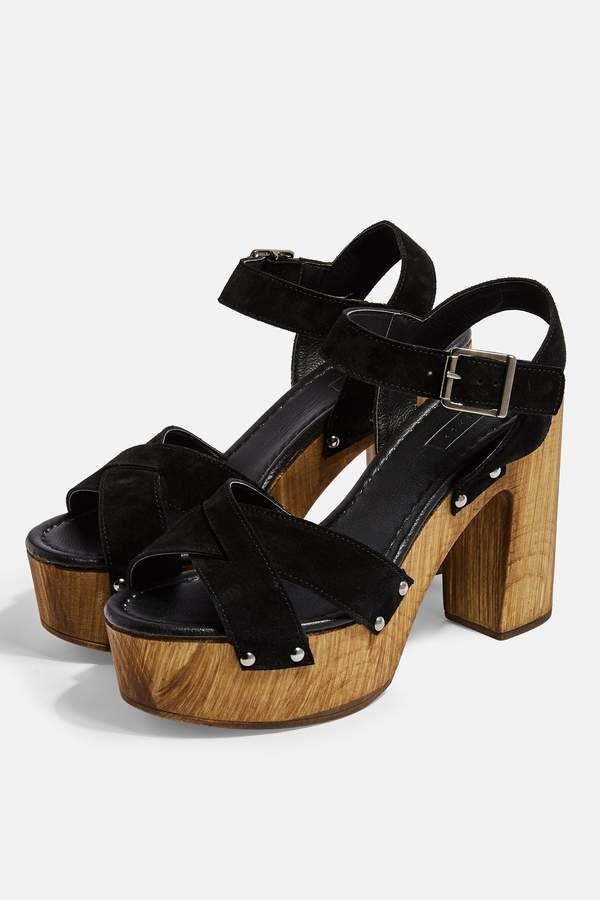e5f15944d19ab Topshop VANESSA Black High Clog Sandals in 2019   Products   Clogs ...