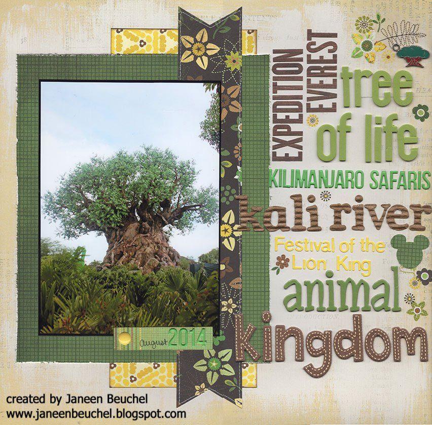 Animal Kingdom Title Page Scrapbook Com Animal Kingdom Disney Animal Kingdom Disney Scrapbooking Layouts