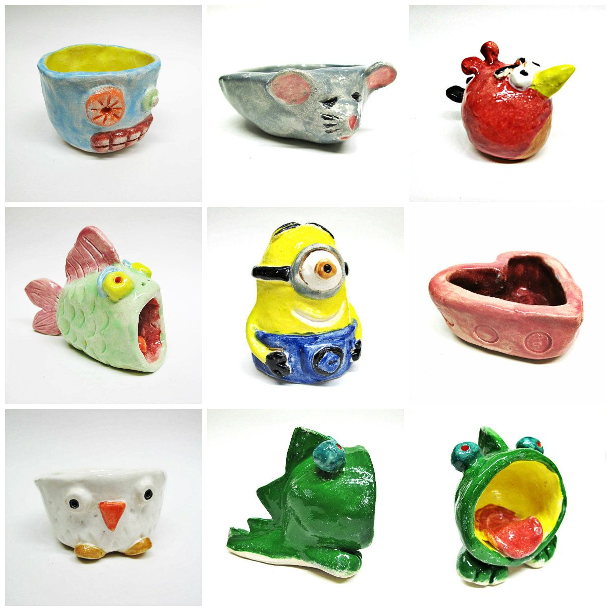 Ceramic Pot Designs Ideas: Free DIY Arts & Crafts Tutorial Clay Pinch Pot Ideas By