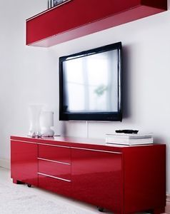 pretty nice eb9cd 88d67 IKEA TV Stand High Gloss Red | Ikea in 2019 | Ikea tv stand ...