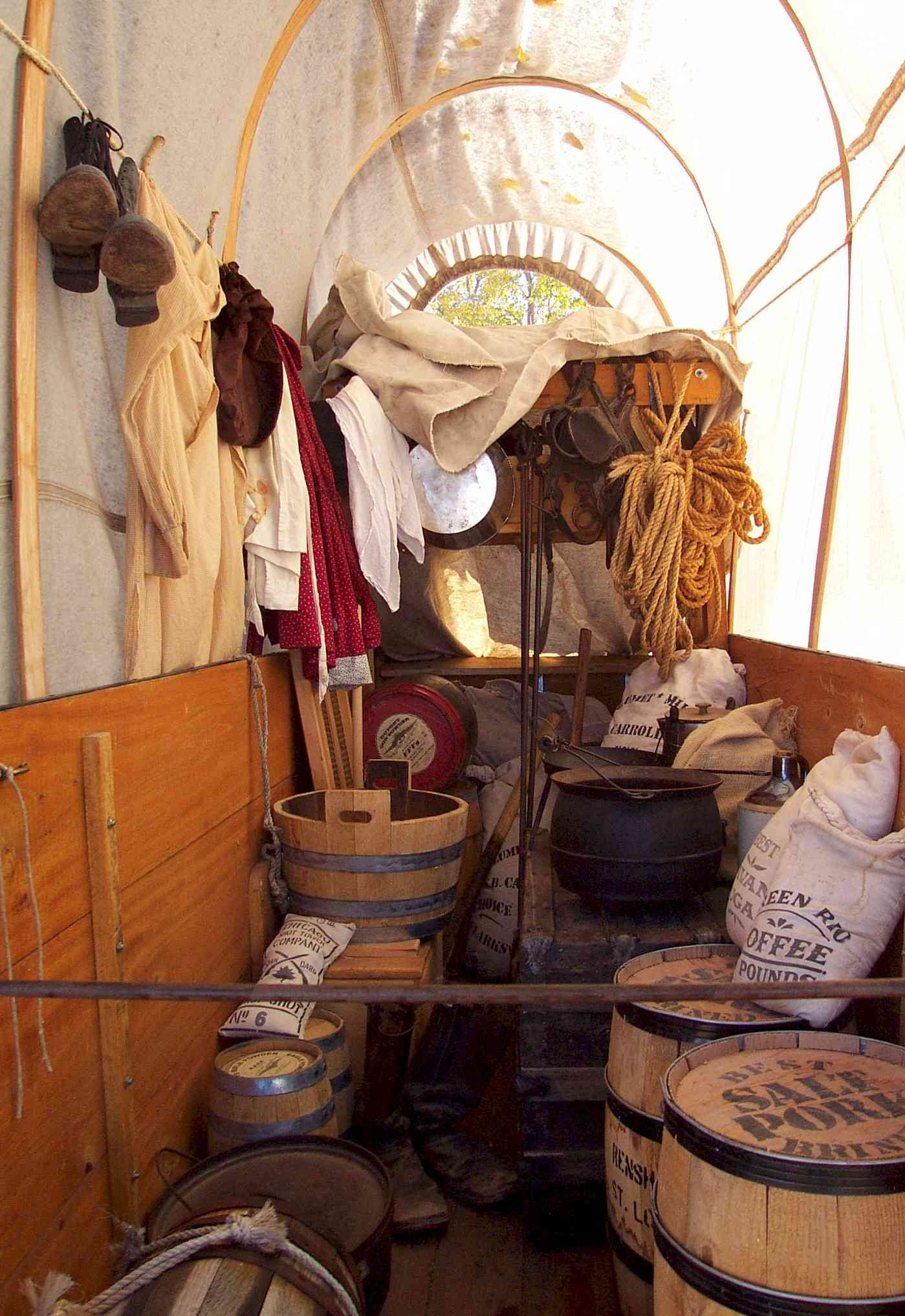Inside Of A Covered Wagon Google Search Idea Board For