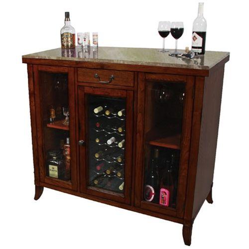 Wine Cooler Wine Bar Station - Hard Wood granite top wine ...