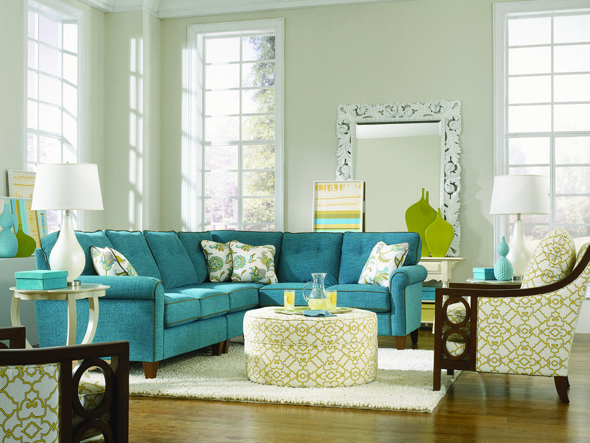 Www Designmeetscomfort Com Blue La Z Boy Collins Sectional How Nice Is This Living Room Green Living Room Inspiration Family Living Rooms