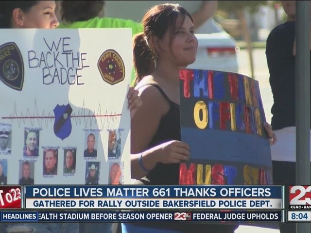 Police Lives Matter 661 takes over Bakersfield Police Department ...