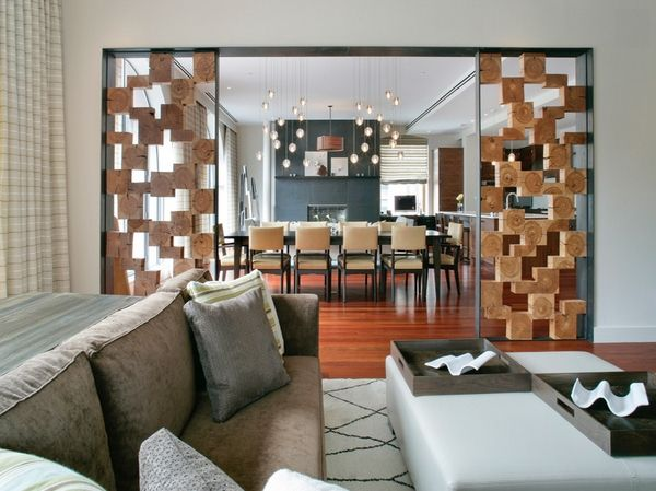 Ideas de separadores de ambientes para la sala de estar Divider