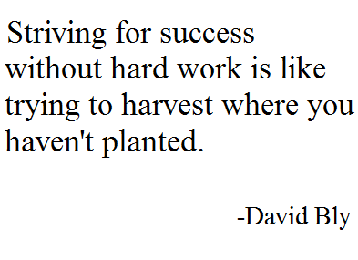 Striving For Success Without Hard Work Is Like Trying To Harvest