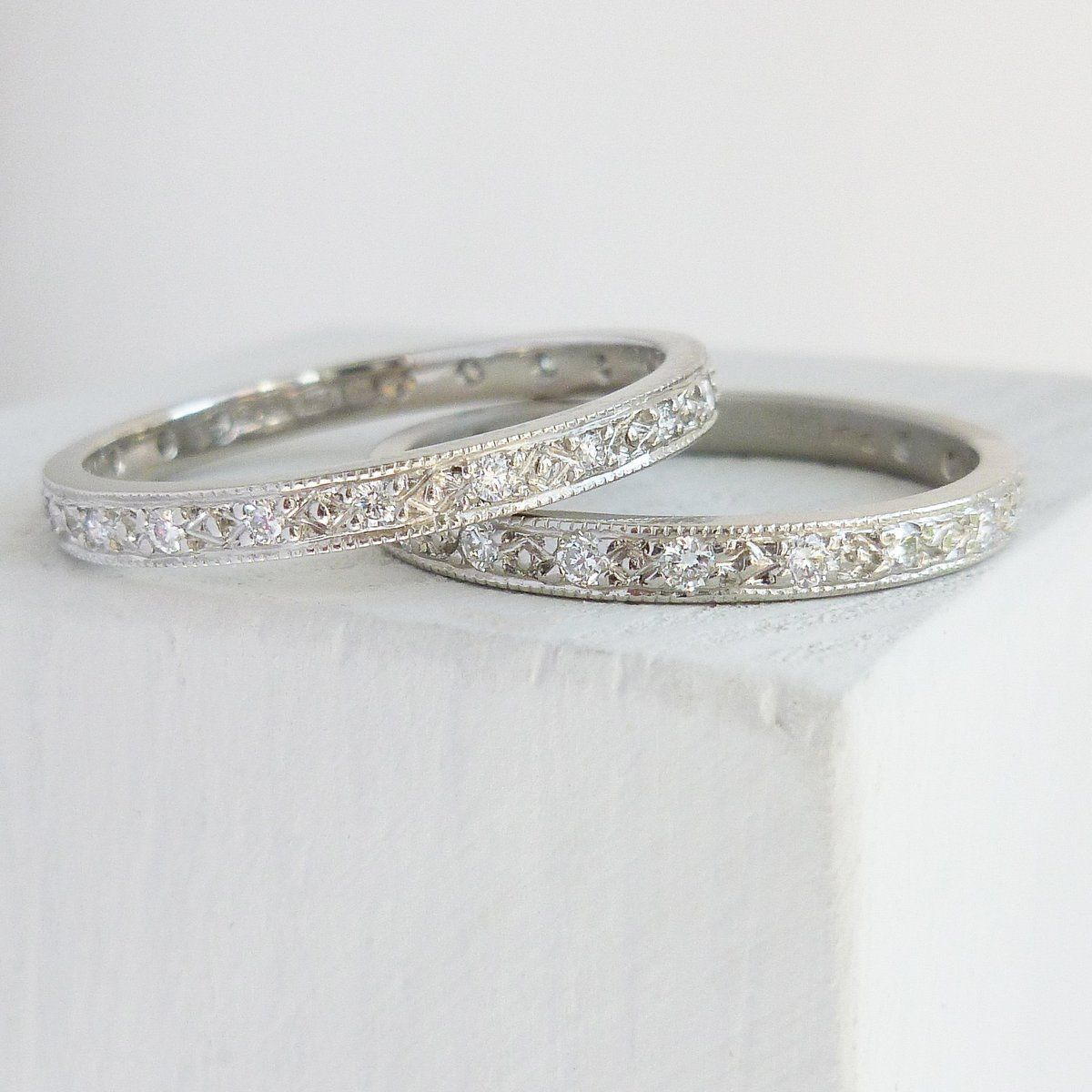 7c953faa5 Beautiful contemporary platinum and diamond wedding or eternity ring - Sue  Lane. #handmade #