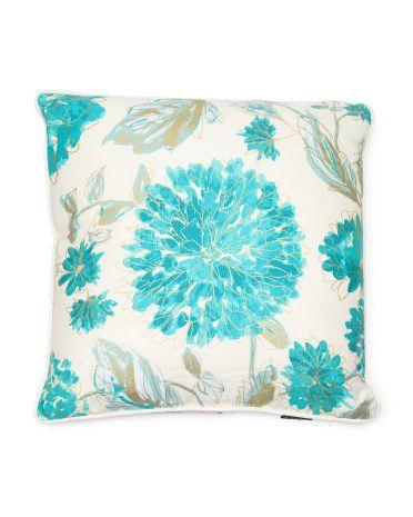 40x40 Chelsea Floral Pillow Decorative Pillows TJMaxx Home Classy Tj Maxx Decorative Pillows
