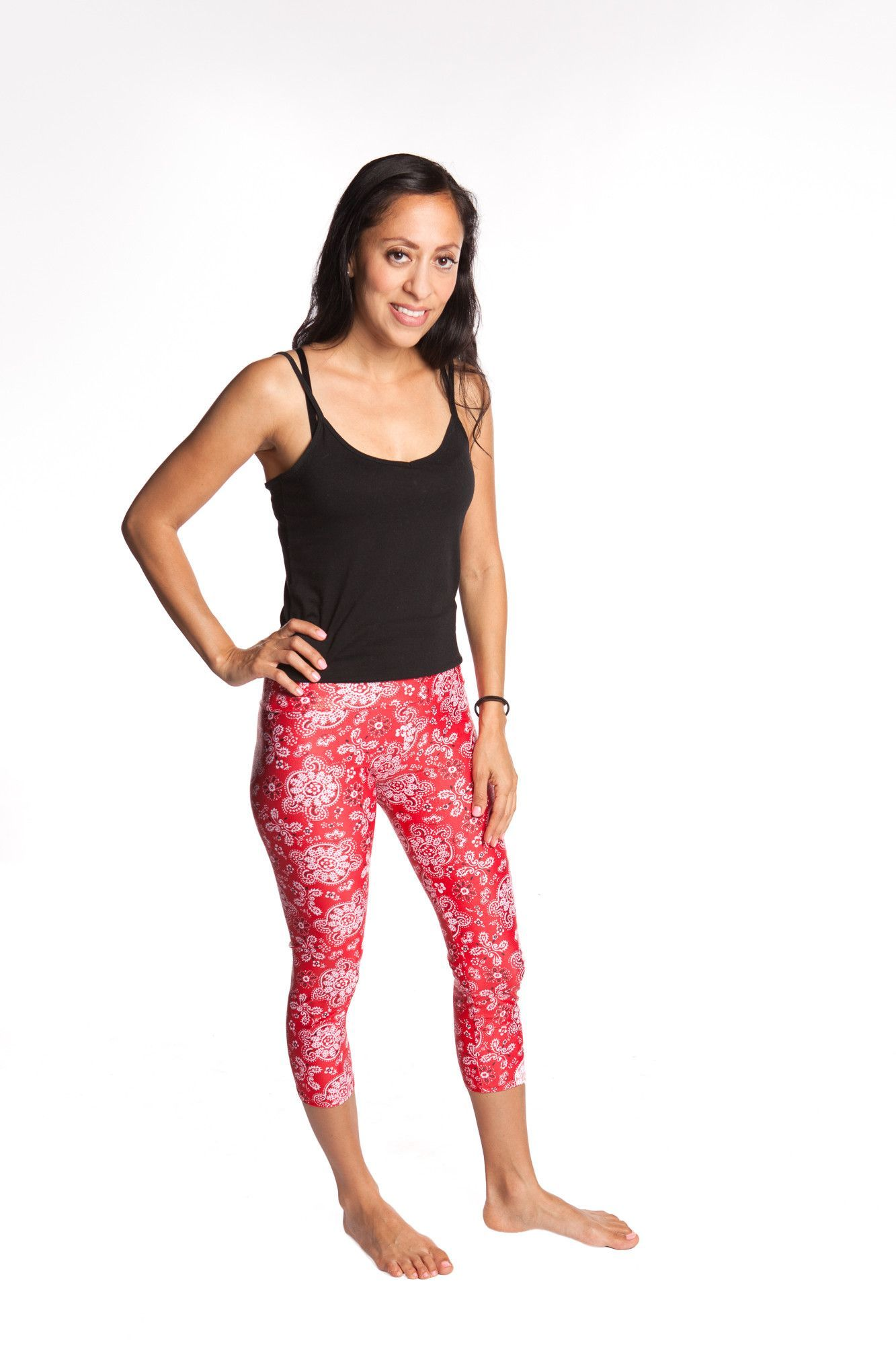 d76a6f7ce0 Women's Workout Leggings. YogaBerries Capri Multisport Tights Printed  Stretchy Soft Active, 4 way stretch Moisture Wicking Spandex Eco-Friendly  ...