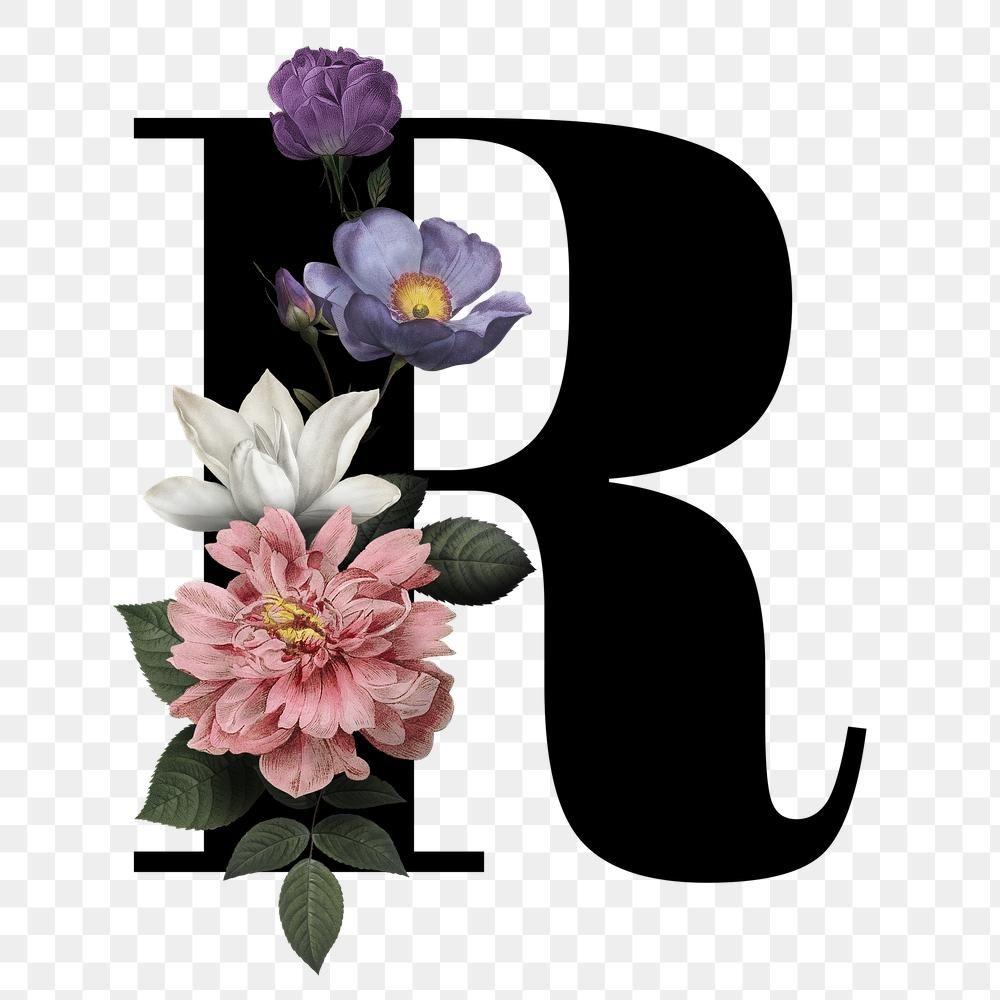 Classic And Elegant Floral Alphabet Font Letter R Transparent Png Free Image By Rawpixel Com Manotang Flower Graphic Design Floral Font Fonts Alphabet