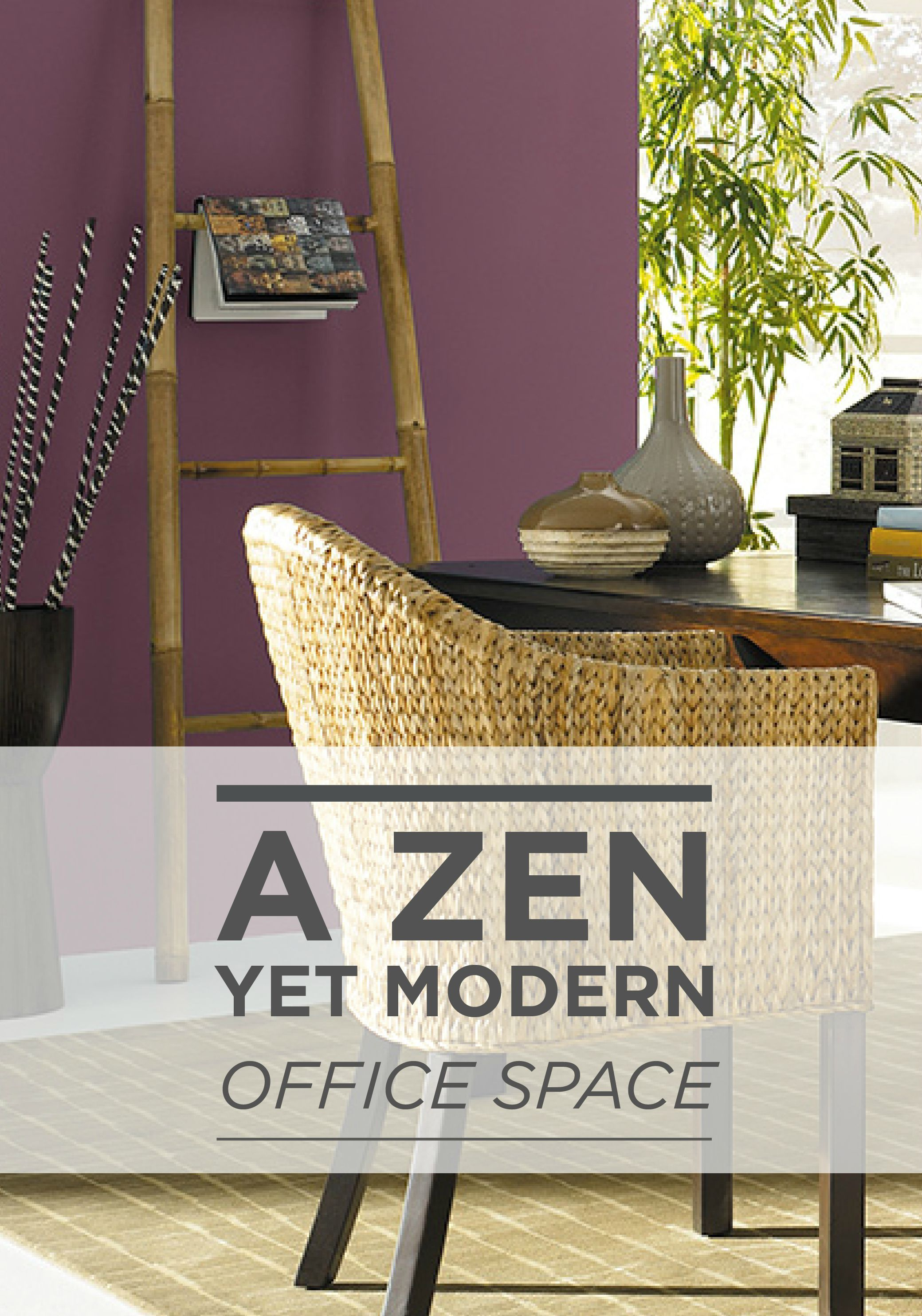 Zen paint colors for living room - A Zen Yet Modern Office Space Can Be Achieved With A Woven Chair Bamboo Mat