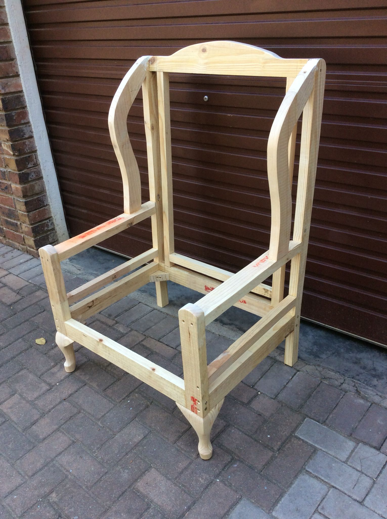 Wingback Chair Upholstery Ideas Antique Wooden Folding Chairs Frame For A Frames In 2019