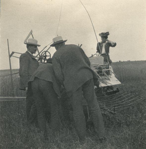 Katherine Dexter McCormick On A Grain Binder