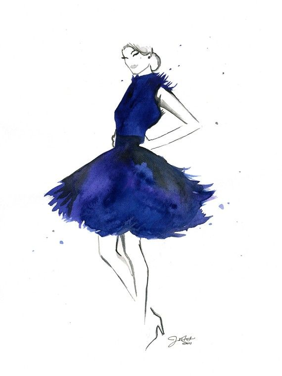 My Throwback Dress print, inspired by Mad Men. #fashionillustration ...