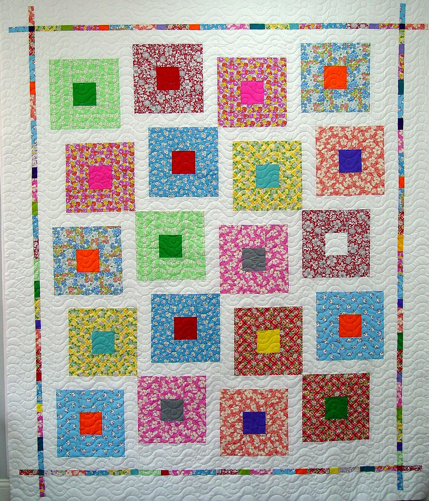 Here S Another Modern Quilt Quilted With My New Modern