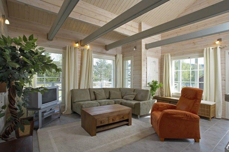 Intérieur - Ikihirsi Maison en bois - Inside Finnish Wooden house ...