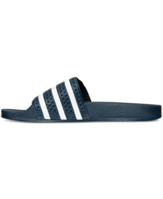 adidas Men's Adilette Slide Sandals from Finish Line Black